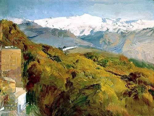 tableaux-de-paysages - Tableau -Vue de Sierra Nevada- - Sorolla, Joaquin