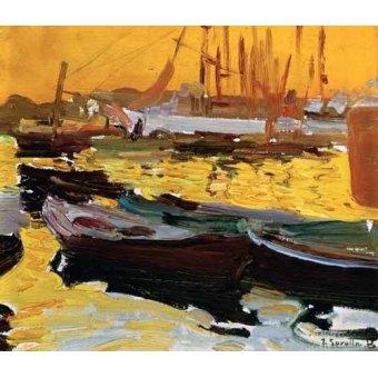 Tableaux de paysages marins - Tableau -Port de Valence- - Sorolla, Joaquin