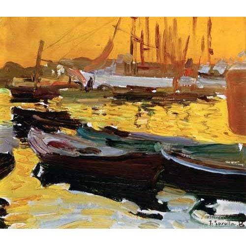 pinturas de paisagens marinhas - Quadro -Puerto de Valencia-