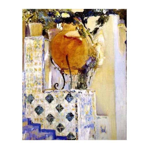 pinturas de paisagens - Quadro -Jardín de la casa del artista VI-