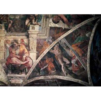Tableaux religieuses - Tableau -Bóveda: El Castigo de Amán, el Profeta Jeremias- - Buonarroti, Miguel Angel