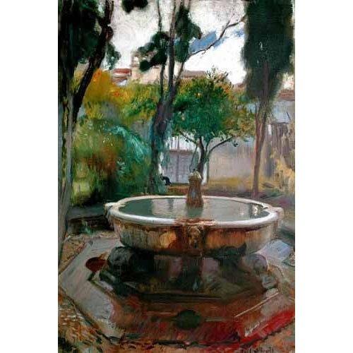 Tableau -Jardins de l'Alcazar de Séville II-