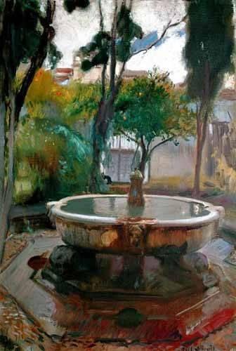 tableaux-de-paysages - Tableau -Jardins de l'Alcazar de Séville II- - Sorolla, Joaquin
