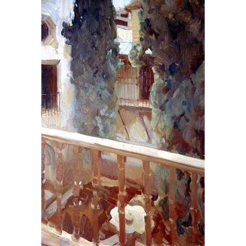 Tableau -L'Alhambra de Grenade, balcon-