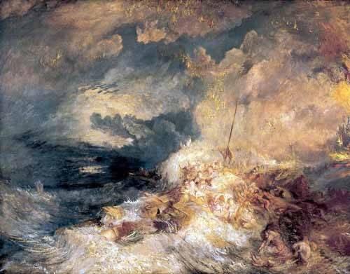 tableaux-de-paysages-marins - Tableau -Feu à mer- - Turner, Joseph M. William