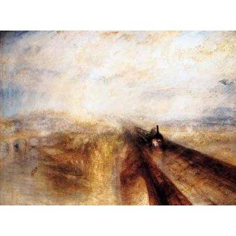 Tableaux de paysages - Tableau -Pluie, Vapeur et Vitesse - Le Grand Chemin de fer de l'Ouest- - Turner, Joseph M. William