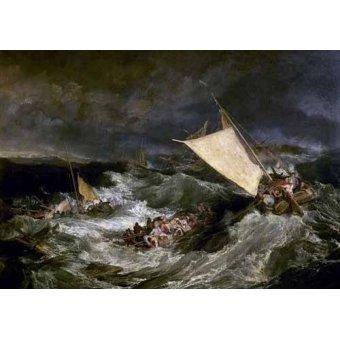Tableaux de paysages marins - Tableau -Le naufrage- - Turner, Joseph M. William