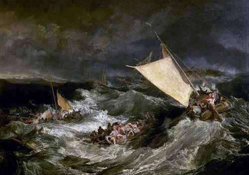 tableaux-de-paysages-marins - Tableau -Le naufrage- - Turner, Joseph M. William