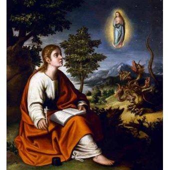Tableaux religieuses - Tableau -Visión de San Juan Evangelista- - Cotan, Juan Sanchez
