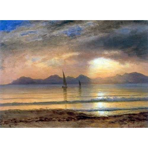 Tableau -Sunset Over A Mountain Lake-