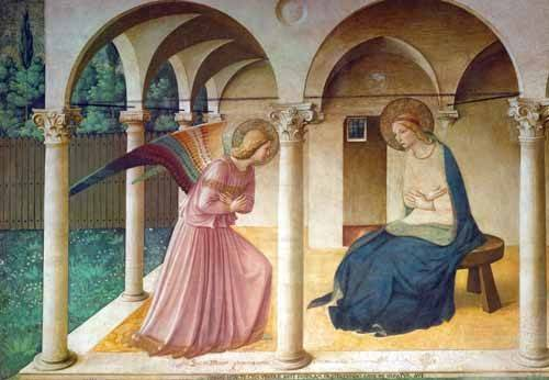 tableaux-religieuses - Tableau -Annonciation- - Fra Angelico, G. Da Fisole