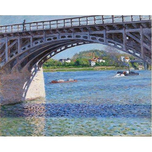 pinturas de paisagens - Quadro -El puente de Argenteuil y el Sena-