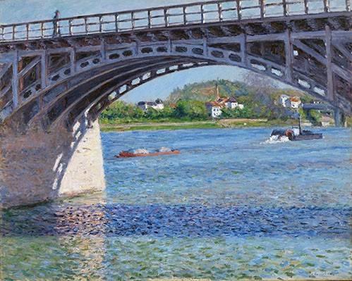tableaux-de-paysages - Tableau -El puente de Argenteuil y el Sena- - Caillebotte, Gustave