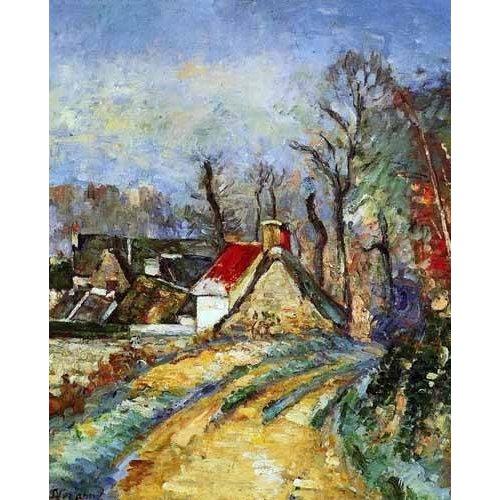 pinturas de paisagens - Quadro -Curva en el camino de Auvers-
