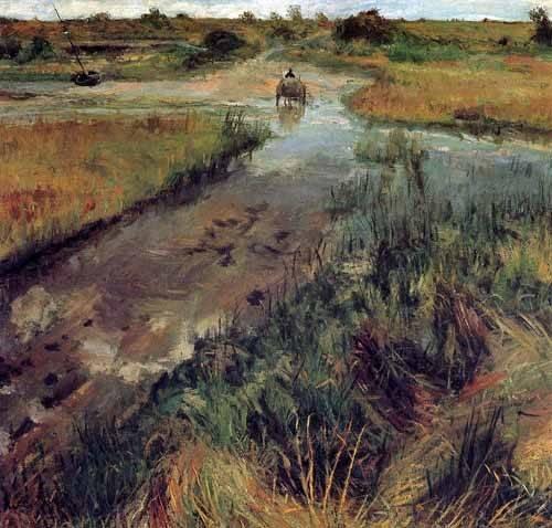 tableaux-de-paysages - Tableau -Swollen Stream at Shinnecock- - Chase, William
