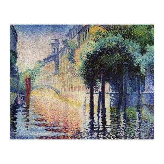 pinturas de paisagens - Quadro -Rio San Trovaso en Venecia-