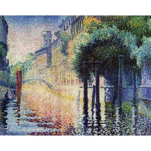 Tableau -Rio San Trovaso en Venecia-