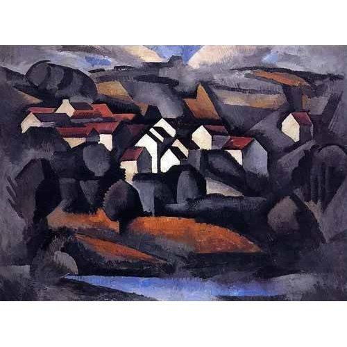 pinturas de paisagens - Quadro -Paisaje en el sur de Ferte-