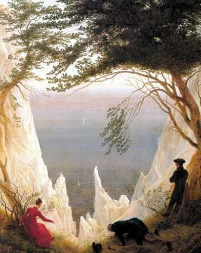 tableaux-de-paysages - Tableau -Kreidefelsen auf Rügen- - Friedrich, Caspar David
