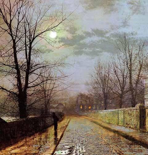 tableaux-de-paysages - Tableau -Calle de Cheshire- - Grimshaw, John Atkinson