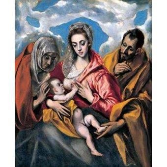 Tableaux religieuses - Tableau -La Sagrada Familia con Santa Ana (1595)- - Greco, El (D. Theotocopoulos)
