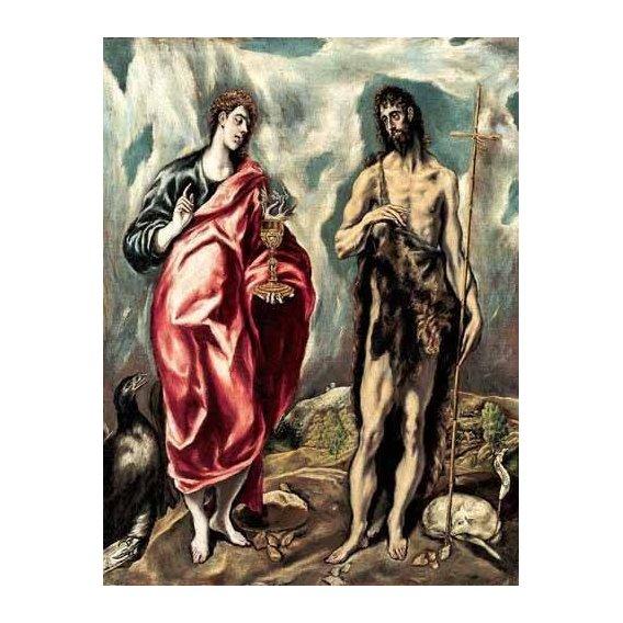 imagens religiosas - Quadro -Los Santos Juanes (1605-10)-