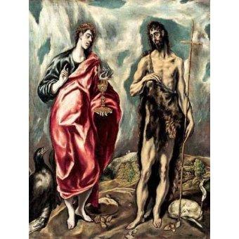 Tableaux religieuses - Tableau -Los Santos Juanes (1605-10)- - Greco, El (D. Theotocopoulos)