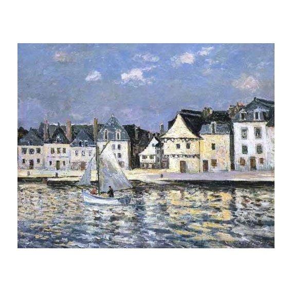 pinturas de paisagens marinhas - Quadro -El puerto de Saint Goustan, Brittany-