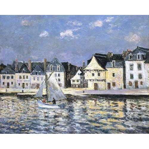 Tableau -El puerto de Saint Goustan, Brittany-