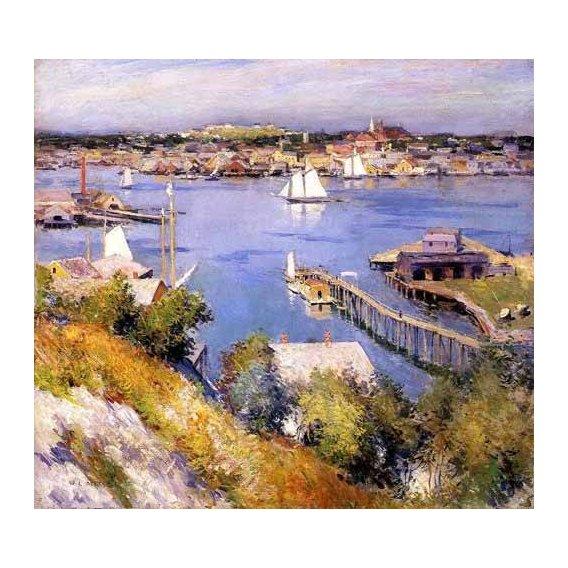 pinturas de paisagens marinhas - Quadro -Puerto de Gloucester-