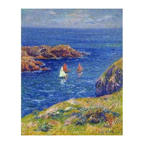 pinturas de paisagens marinhas - Quadro -Día tranquilo en Quessant-