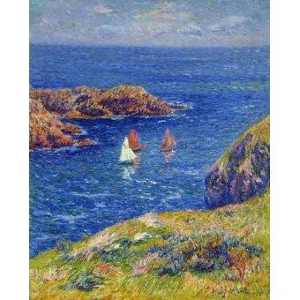 Tableaux de paysages marins - Tableau -Día tranquilo en Quessant- - Moret, Henri