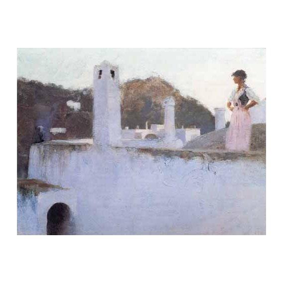 pinturas de paisagens - Quadro -Vista de Capri-