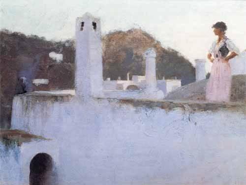 tableaux-de-paysages - Tableau -Vista de Capri- - Sargent, John Singer