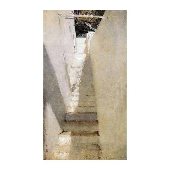 pinturas de paisagens - Quadro -Escalinata en Capri-