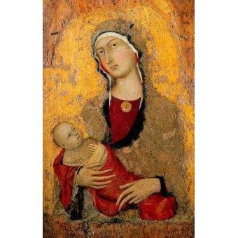 Tableaux religieuses - Tableau -Madona con Niño- - Martini, Simone