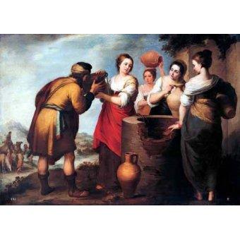 Tableaux religieuses - Tableau -Rebeca y Eliecer- - Murillo, Bartolome Esteban