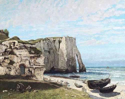 tableaux-de-paysages-marins - Tableau - Falaises d'Etretat après l'orage - - Courbet, Gustave