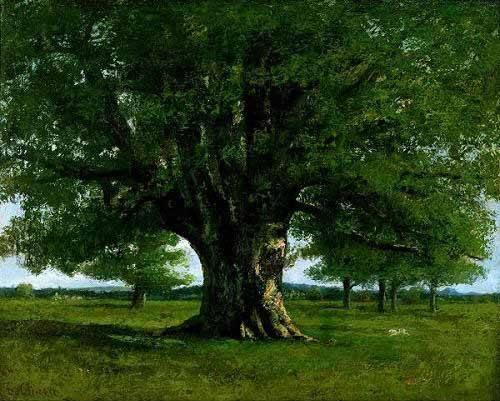 tableaux-de-paysages - Tableau -La chêne de Flagey, appelé Vercingétorix- - Courbet, Gustave
