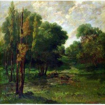 Tableau -Paysage d'une forêt-