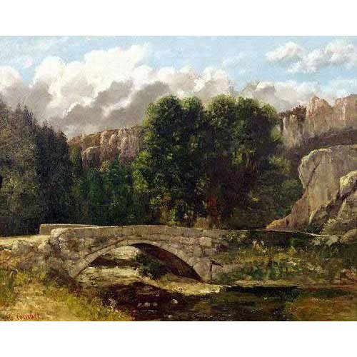 Tableau -Le Pont de Saint-Sulpice près de Fleurier (1873)-