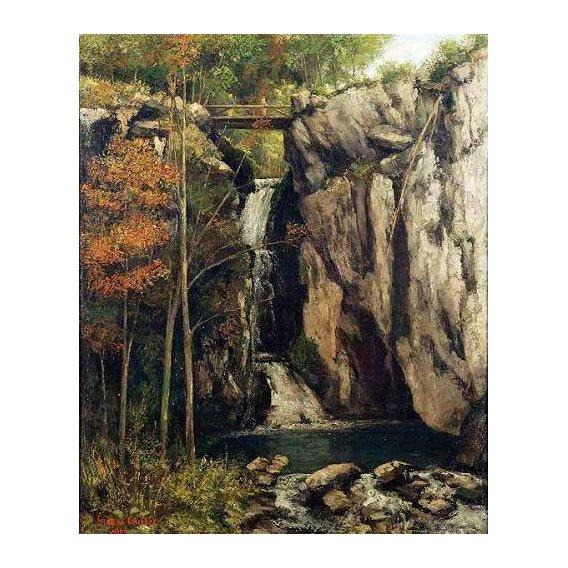 pinturas de paisagens - Quadro -El abismo de Conches (1864)-