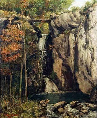 tableaux-de-paysages - Tableau - Le Gour de Conche, 1864 - - Courbet, Gustave