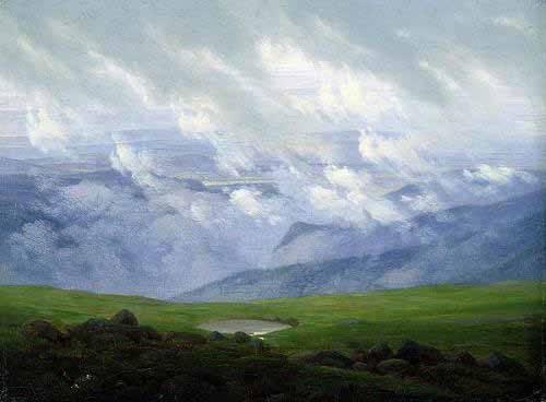 tableaux-de-paysages - Tableau -Nubes a la deriva- - Friedrich, Caspar David