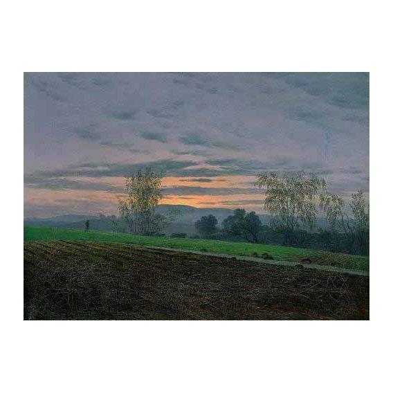 pinturas de paisagens - Quadro -Campos arados-