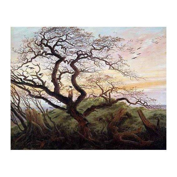 pinturas de paisagens - Quadro -El arbol de los cuervos-