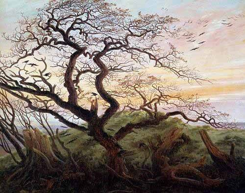 tableaux-de-paysages - Tableau -El arbol de los cuervos- - Friedrich, Caspar David
