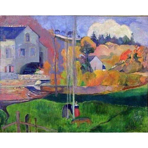 Tableau -Paisaje de Bretaña: el molino de Mill-