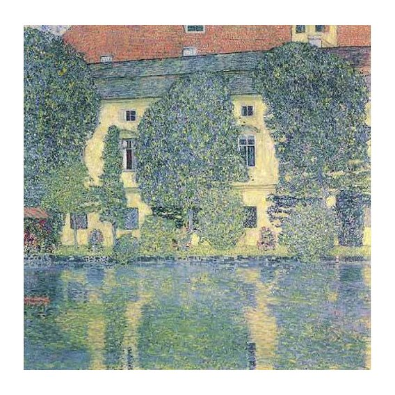 pinturas de paisagens - Quadro -The Sholoss Kammer on the Attersee-