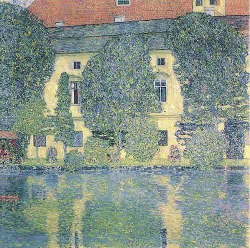 tableaux-de-paysages - Tableau -Le Kammer Sholoss sur l'Attersee- - Klimt, Gustav